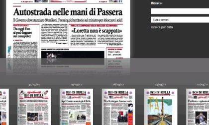 Eco di Biella da oggi <BR>lo sfogli anche online