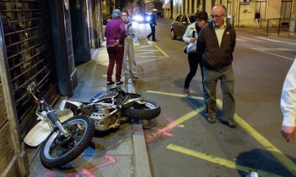 Incidente Via Repubblica Auto Tampona Motociclista