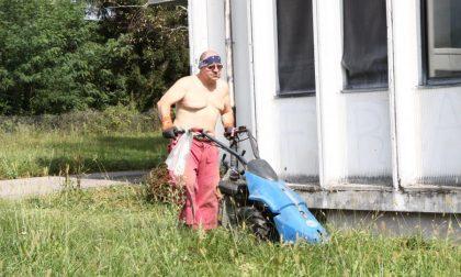Corradino taglia l'erba del liceo