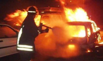 Vanno a fuoco due auto