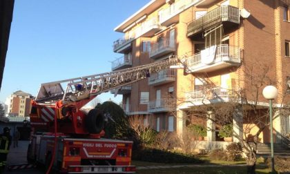 Incendio e incidente in viale Macallé