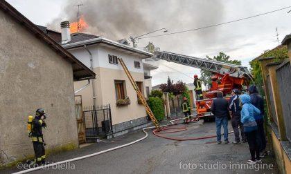 Incendio Villetta A Vigliano