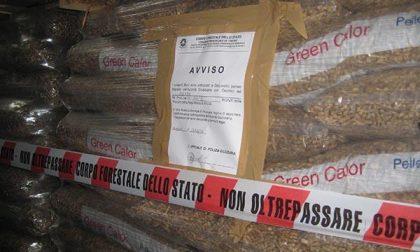 Cento tonnellate di pellet contaminato
