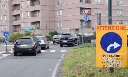 I cantieri d'autunno bloccano la viabilità di Biella