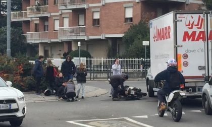 In scooter contro un camion