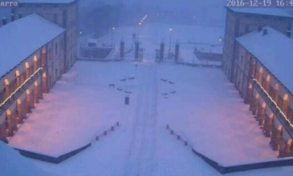 A Oropa 10 centimetri di neve