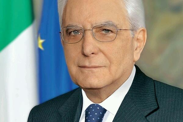 Il presidente della Repubblica italiana Sergio Mattarella