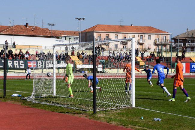 Italia-Olanda Under 18, gol di Mulatteri (Foto Corrado Sartini)