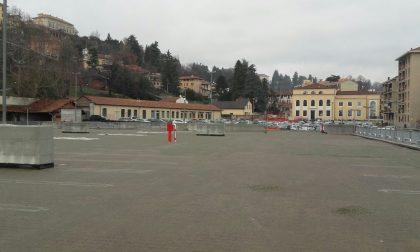 Parcheggio funicolare funzionante a inizio aprile