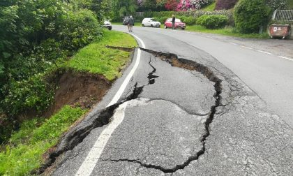 Frana sulla Pollone-Sordevolo: la strada resta chiusa