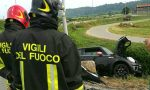 Incidente in superstrada: auto nella scarpata
