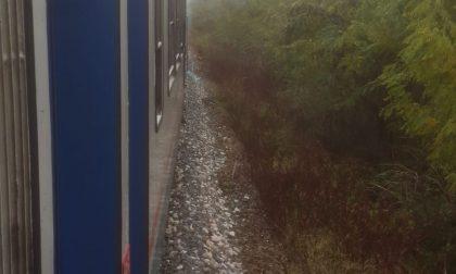 Principio d'incendio sul treno per Biella