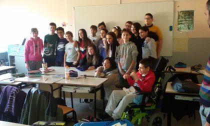 Nicole Orlando in visita alla scuola di Cossato