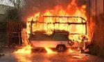 Incendio distrugge una roulotte
