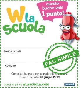 Il coupon di W la Scuola