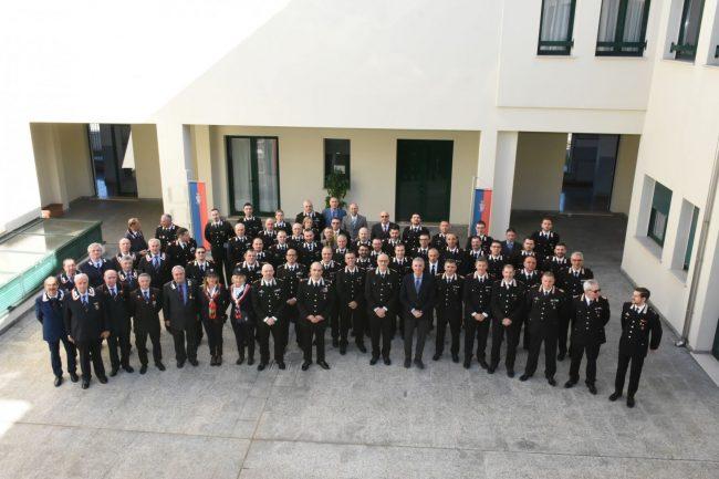 Generale dei carabinieri in visita alla caserma di Biella