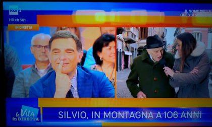 """Silvio Biasetti, 106 anni, ospite a """"La Vita in diretta"""" su Raiuno"""
