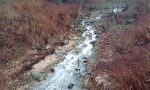 Allarme per la schiuma nel torrente Oremo