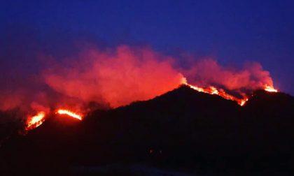 Furioso incendio (doloso) devasta i boschi tra Valsesia e Biellese
