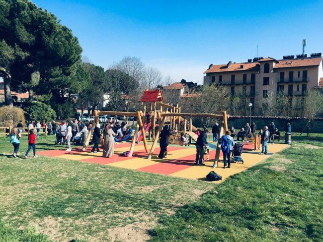 La festa di primavera al nuovo parco di Chiavazza