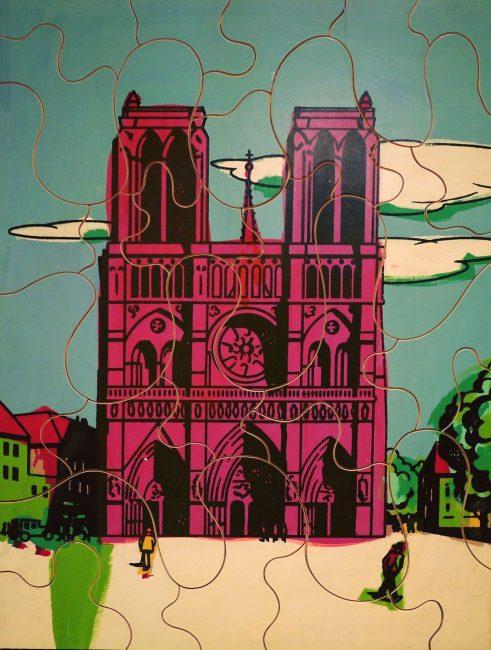 L'opera Ugo Nespolo su Notre Dame del Museo di Biella