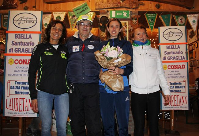 Il podio femminile Biella-Graglia
