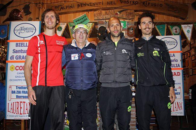 Il podio maschile Biella-Graglia