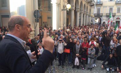 """Zingaretti parla a Biella, ma non """"scalda"""" come Salvini FOTO"""