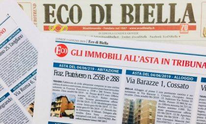 Su Eco di Biella speciale Aste Immobiliari: occasioni di febbraio