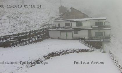 Prima neve sulle montagne biellesi FOTO