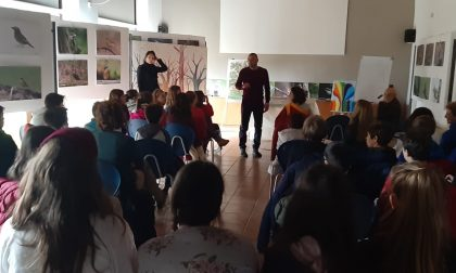 La giornata dell'albero, studenti in Burcina