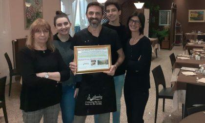 Piatti e premi speciali per due ristoranti di Roasio e Villa del Bosco