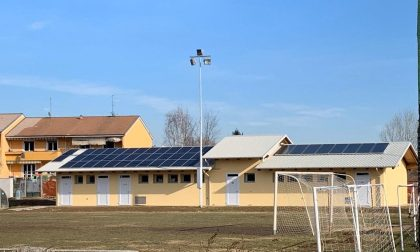 Campo sportivo del Villaggio La Marmora: pronti all'uso i nuovi spogliatoi