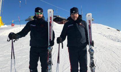 Soccorsi in cinque dai carabinieri sciatori