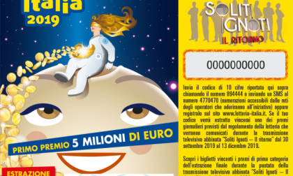 Lotteria Italia, venduto a Torino il biglietto da 5 milioni