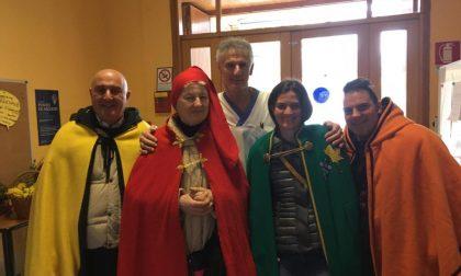 Sindaco di Viverone festeggia con i bimbi il carnevale a Casa Albert