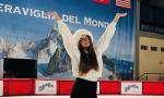 """La """"stella"""" biellese del pattinaggio Isabel Falcetto si esibisce per la città"""