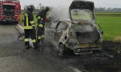Dà fuoco all'auto della suocera e si nasconde fra i cespugli per vederla bruciare