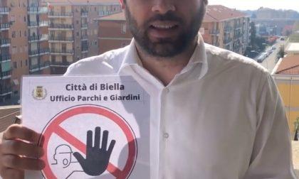 Parchi e giardini chiusi, a Biella arrivano i cartelli di divieto