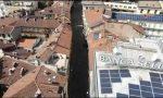Il drone del Comune di Biella sorvola via Italia. IL VIDEO