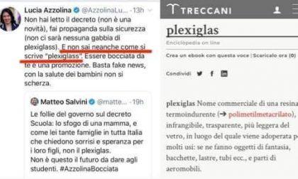 Battibecco su Twitter tra Salvini e la Azzolina… che scivola sul plexiglas (con 2 esse)