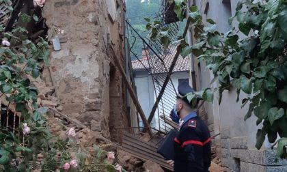Crolla un vecchio rudere a Bioglio: paura ma nessun ferito