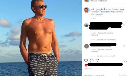Ezio Greggio splendido 66enne in spiaggia a Montecarlo