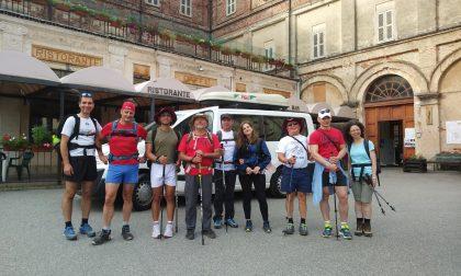 Atleti non vedenti in cammino da Santhià a Oropa-FOTOGALLERY