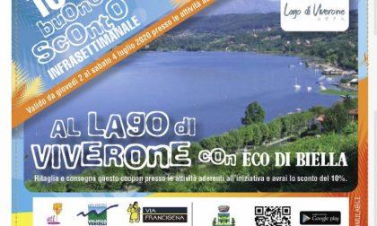 Oggi su Eco buono sconto da spendere nelle attività sul lago di Viverone