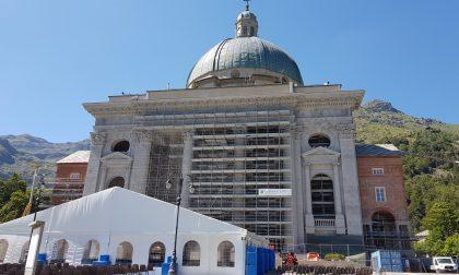 Oropa, domenica 30 agosto riapre la Basilica Superiore