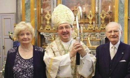 Sessant'anni d'amore per Mario Coda e Silvia Costa suggellati dal Vescovo