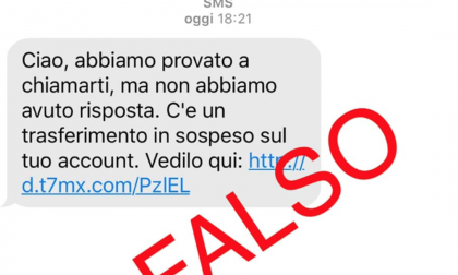 La truffa dell'account personale arriva via sms
