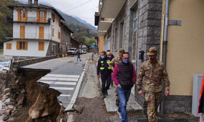"""Frana in valle Cervo: sopralluogo esercito: """"Lavoro di ripristino sarà complesso"""""""