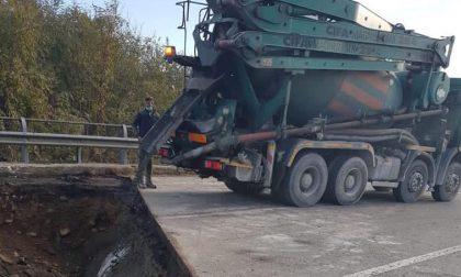 Trossi chiusa, lavori in corso a Villanova per ripristinare la strada